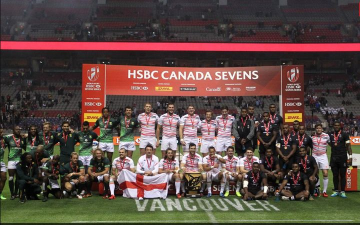 England win the Vancouver Sevens with South Africa in second place and Fiji third