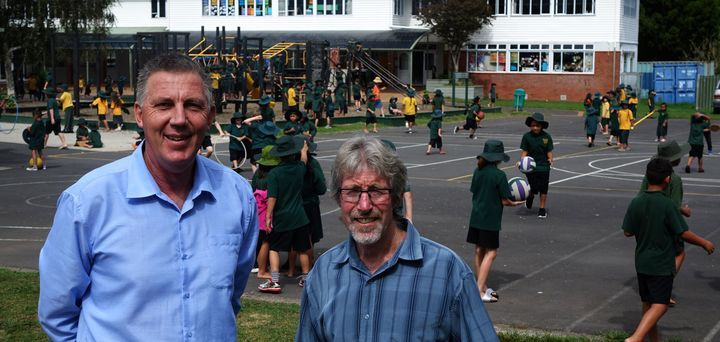 The principal of Cosgrove School in Papakura, Gus Klein, and deputy, Peter Rout