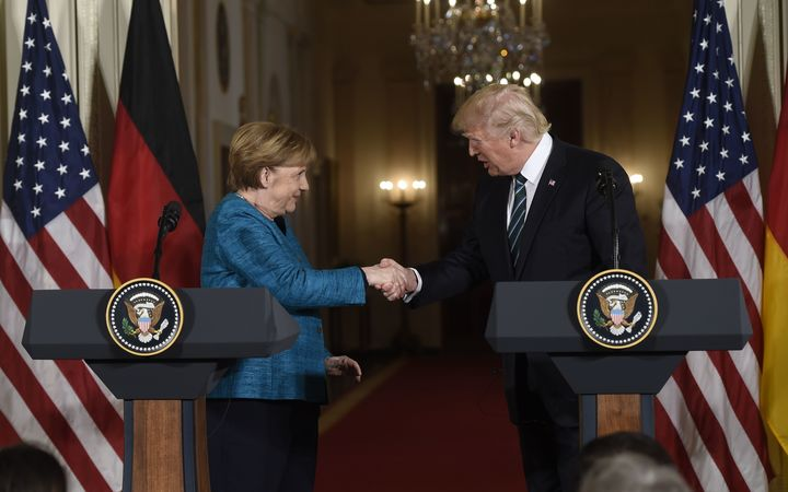 German Chancellor Angela Merkel meets with US President Donald Trump at the White House.