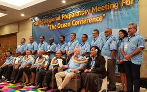 Leaders from around the Pacific met in Fiji on Friday ahead of an international oceans conference in June.