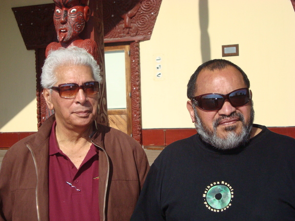 Mike Kaui and Pete Mason of Nga Hau e Wha Marae, Christchurch.