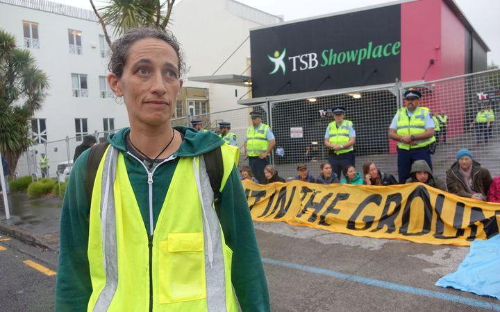 Protest organiser Emily Bailey