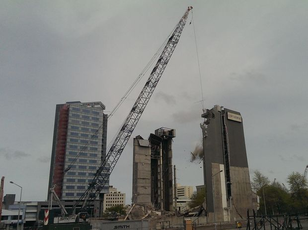 Demolition resumed at the Copthorne Hotel in October 2013.
