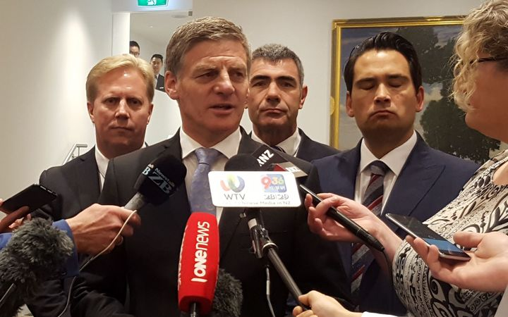 PM Bill English following his announcement on a trade strategy 24 March 2017.