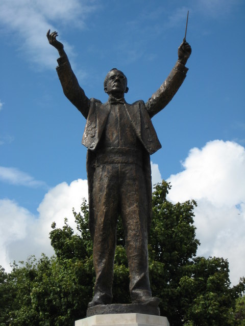 Gustav Holst sculpture in Cheltenham