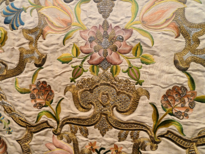 Detail of altar frontal (antependium), France or Italy, 1730-1740.