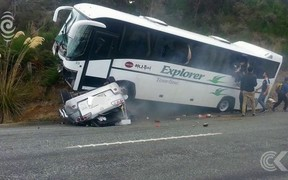 Tour bus operator says appears rental car cross centre line before Te Anau crash
