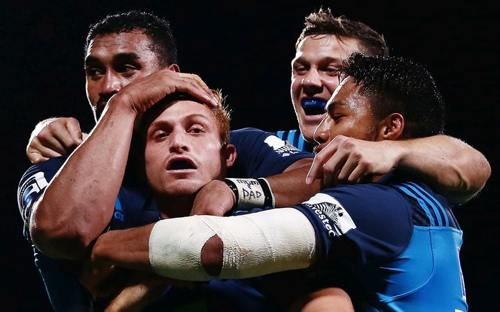 Blues love with Jerome Kaino, Ihaia West, Piers Francis and George Moala.