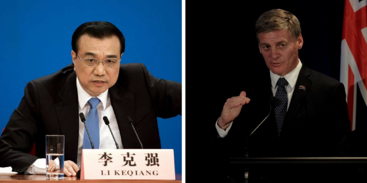 Chinese Premier Li Keqiang  & Prime Minister Bill English