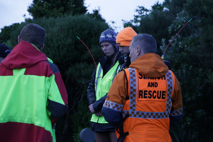 Search and rescue workers preparing to search for missing Auckland woman Kim Bambus.