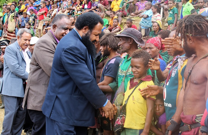 PNG Opposition Leader, Don Polye, at Maramuni
