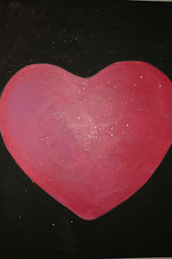 Heart painting by Mehwish