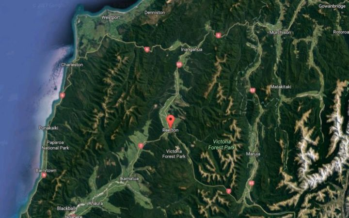 The helicopter crashed near Reefton, on the South Island's West Coast.