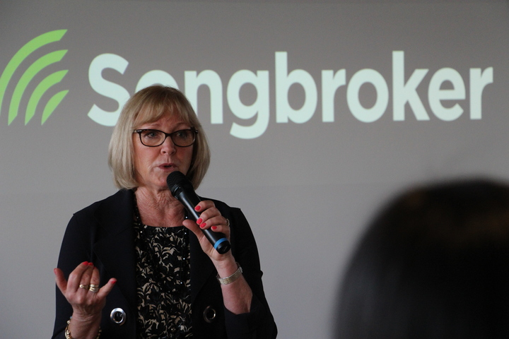 Jacqui Dean at the Songbroker Launch