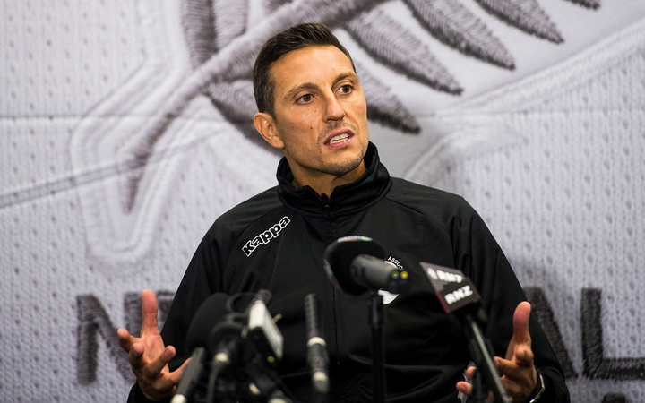 Fiji coach Christophe Gamel speaks to media following their World Cup Qualification match against New Zealand in Wellington.
