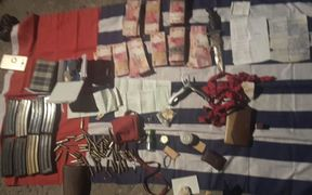 Gear unearthed during Indonesian police raid on West Papuan Mikail Merani's house in Yapen, 29 March 2017.
