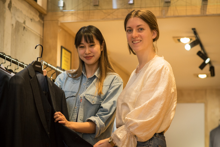 French 83's Vivian Cheng and designer, Nicole Wesseling.