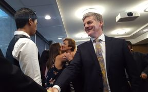 Bill English and Anne Tolley meet youth advocates at the Oranga Tamariki launch.