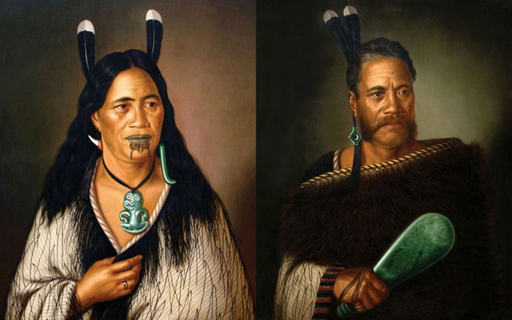 "The paintings ""Chieftainess Ngatai-Raure"" and ""Chief Ngatai-Raure"" by Gottfried Lindauer were taken in the raid overnight."