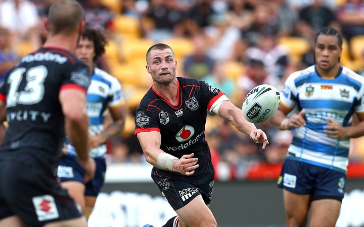 Kieran Foran on debut for the Warriors