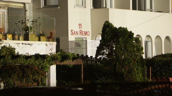 The landslide hit the San Remo apartments at 11 Kohimarama Rd, Auckland.