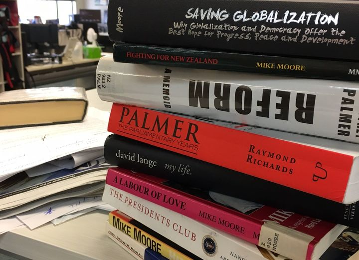stack of politician's memoirs