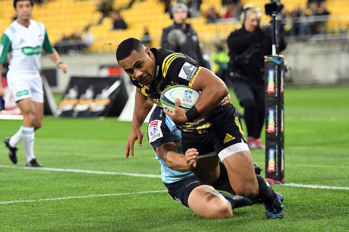 Hurricanes' Ngani Laumape scored two of the Hurricanes' six tries.