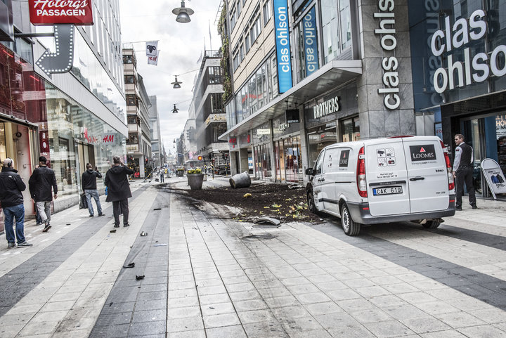 Three people were killed and eight injured when a truck crashed into department store Ahlens on Drottninggatan, in central Stockholm.