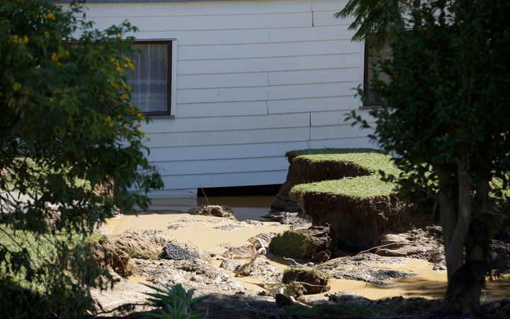 Houses were pushed off their foundations by the floodwaters that engulfed Edgecumbe.