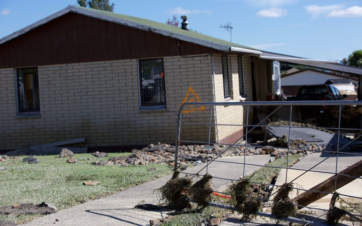 The flood damage in Edgecumbe looked more like the aftermath of an earthquake, said the local mayor.
