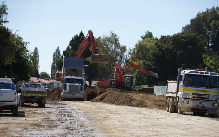 Truck drivers and digger crews are already hard at work, repairing some of the flood damage in Edgecumbe.