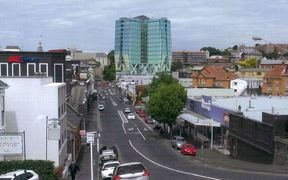 An artist's impressions of the view of the proposed central Dunedin hotel from Filleul St.