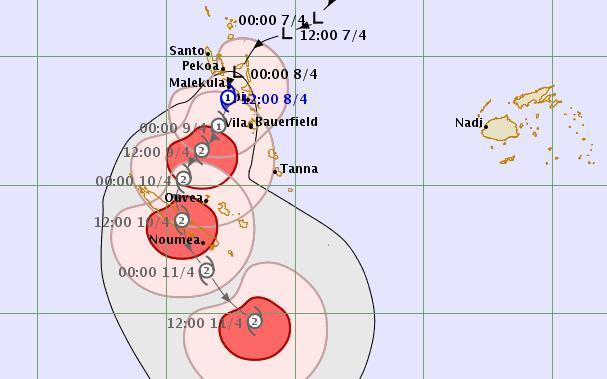 Tropical Cyclone Cook over Vanuatu