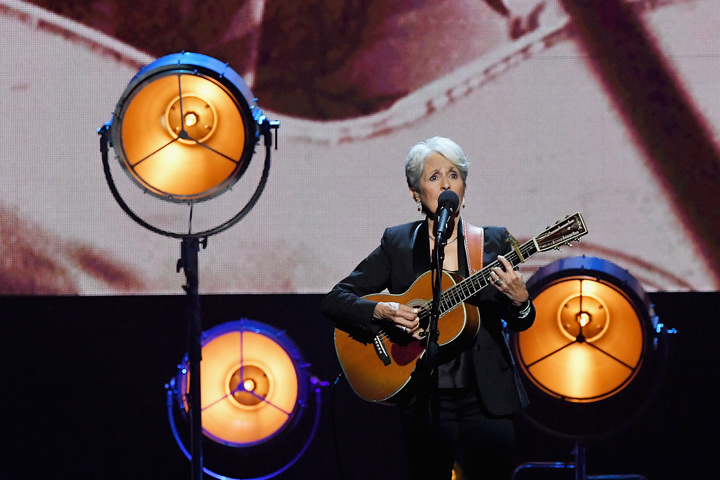 2017 Inductee Joan Baez performs onstage at the 32nd Annual Rock & Roll Hall Of Fame Induction Ceremony at Barclays Center on April 7, 2017 in New York City.