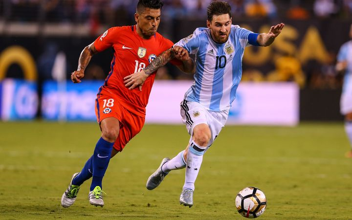 Lionel Messi (right) and his Argentina side could play the All Whites for a place at the 2018 World Cup.
