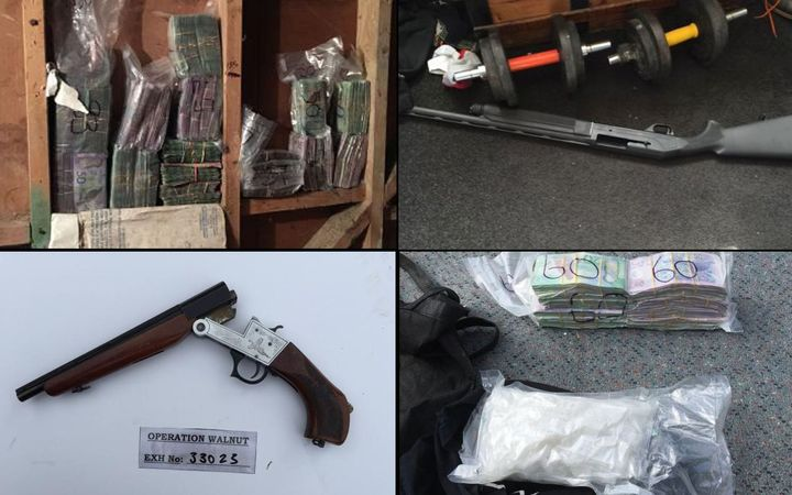Cash and firearms were seized at the climax of a long-running police investigation into the Wellington meth scene.