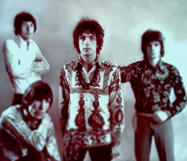 Syd Barrett (centre) with Pink Floyd 1967.