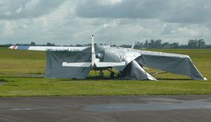 The light plane involved in the crash.