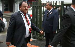 Papua New Guinea Foreign Minister Rimbink Pato attends opening of the PNG High Commission in New Zealand, August 2013.