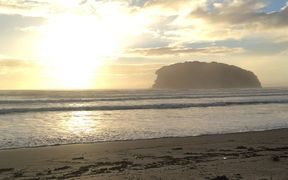 RNZ reporter Sarah Robson took this pic this morning in Whangamatā in Coromandel.