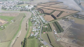 An aerial shot of Edgecumbe on Sunday.