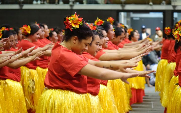 Porirua dancers at Tokelau Festival.