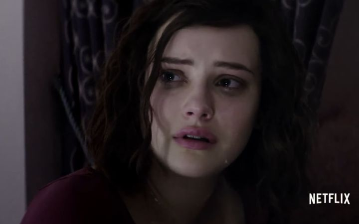 One of the protagonists Hannah Baker played by Katherine Langford, in the show 13 Reasons Why,