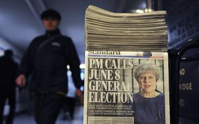 UK Prime Minister Theresa May made the surprise announcement that there would be an early election last night.