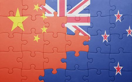 China and NZ flags
