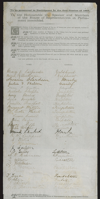 1893 Women's Suffrage Petition