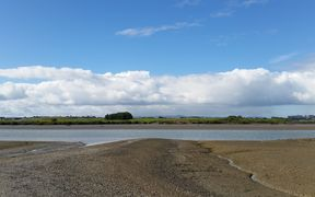 The Pahurehure inlet in the Manukau Harbour, as seen from the Weymouth boating club.