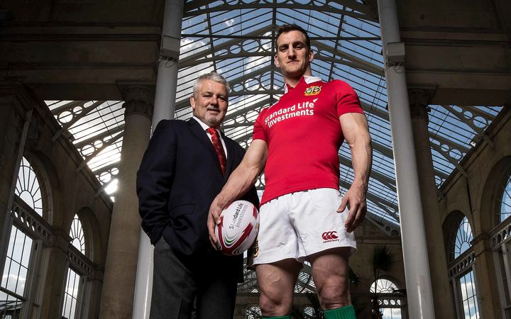Lions coach Warren Gatland and captain Sam Warburton