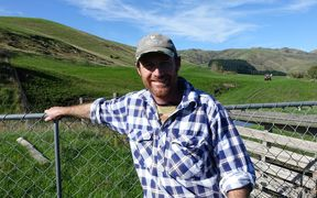 Daniel Maxwell on his farm near Cheviot.