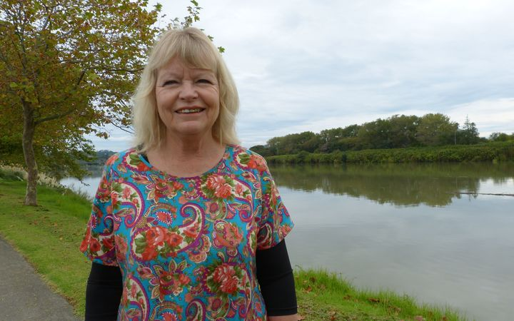Annette Main, by the Whanganui River.